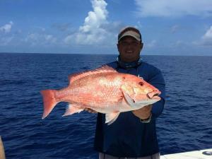 Big Red Snapper Tampa Bay Fishing Charter Capt. Matt Santiago
