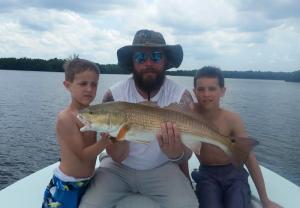 Family Fishing Redfish Tampa Bay Fishing Charter Capt. Matt Santiago