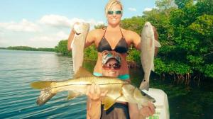 Girls who Fish Redfish Tampa Bay Fishing Charter Capt. Matt Santiago