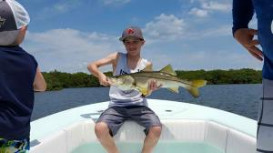 Kid Fishing Snook 4 Tampa Bay Fishing Charter Capt. Matt Santiago