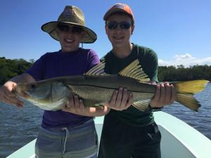 Kids Fishing Snook 7 Tampa Bay Fishing Charter Capt. Matt Santiago