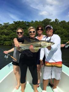 Ladies Fishing Snook Tampa Bay Fishing Charter Capt. Matt Santiago