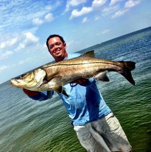 Monster over slot Snook Tampa Bay Fishing Charter Capt. Matt Santiago