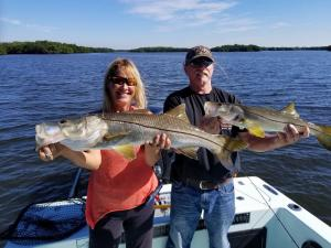 Snook Double Header Tampa Bay Fishing Charter Capt. Matt Santiago
