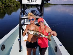 fishing girls snook Tampa Bay Fishing Charter Capt. Matt Santiago